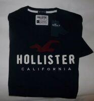 NWT MENS HOLLISTER CALIFORNIA S/S T-SHIRT~NAVY~SZ LRG