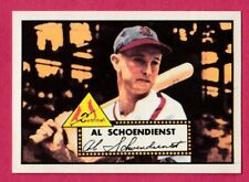1952 Topps Reprint # 91 Al Schoendienst - St. Louis Cardinals