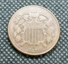 1871 Two Cent Piece | VERY FINE Detail | Great Type Coin!