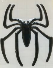 2x 3D BLACK Spiderman Spider Car Emblem Badge Stickers Windows Trunk NEW
