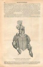 Casque Armure de Jean Sobieski roi de Pologne Musée de Dresde GRAVURE PRINT 1869