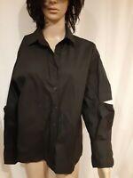 Oak+Fort Women's Cotton Black Blouse Split Sleeveless One Size NWT