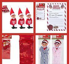 "Red Naughty Elf Elves Behavin Badly On The Shelf A Boy 12"" Prop Doll Christmas"
