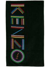 Kenzo Signature Logo Beach Towel Black