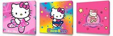Hello Kitty set of Three Wall / Plaques canvas pictures