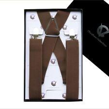 Men's Mid Brown X3.5cm Braces  Mens Suspenders