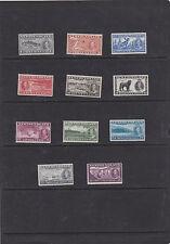 NEWFOUNDLAND 1937 CORONATION ADDITIONAL SET OF 11 SG.257-267 MNH