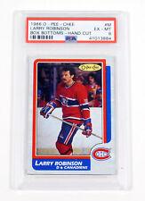 1986-87 OPC O-Pee-Chee Larry Robinson Box Bottoms - Hand Cut PSA 6