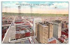 1944 Four Heaviest Corners in the South, Birmingham, AL postcard