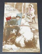 CPA 1915 GUERRE 14-18 CARTE PATRIOTIQUE LE REVE DU CHASSEUR ALPIN