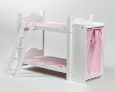 Cinderella USADoll Bunk Bed With Ladder And Storage Armoire