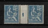 """FRANCE STAMP TIMBRE N° 118 """" MOUCHON 25c TYPE II MILLESIME 1 """" NEUF xx TB  V225"""