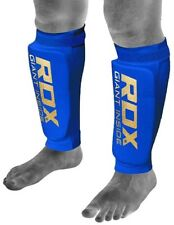 Rdx Shin Pads Mma Guards Ufc Training Kick Boxing Tkd Muay Thai Blue ☆Authentic☆