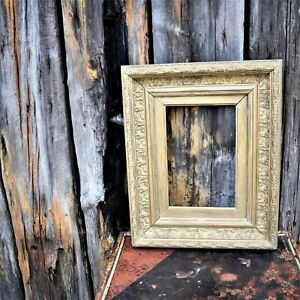 Antique Gesso Gilt Wooden Deep Picture Frame Interior Wall Hanging Art (2)