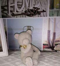 oso lazo retro gris ORO Shabby Chic 8x11cm Estilo Rústico Shabby Chic