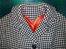 Vintage 1960s MOD Black & White Houndstooth Car Coat by DUMAS California 10-12