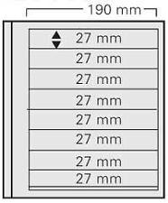SAFE 618 dual Blanko 5 Einsteckblätter mit 8 Taschen