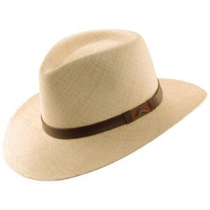 TOMMY BAHAMA * MENS PANAMA STRAW FEDORA HAT * NEW SUN SHADY OUTBACK UPF50 GOLF