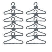 50pcs Plastic Clothes Rack Coat Hanger Wardrobe Hangers for Dolls Gifts
