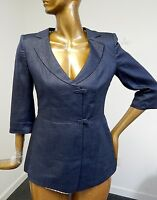 Armani Collezioni Italy sz 8 Blue Linen Jacket