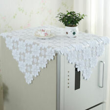 Tablecloth Square White Flower Doily Lace Cloth Home Side Table Cover 80x80cm