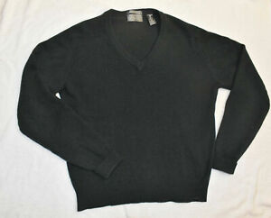 Men's Dark Green Sweater Lambswool Kensington Collection, Lord&Taylor M Exc Used