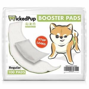 Dog Diaper Liners Booster Pads for Male and Female Dogs 100ct Regular Cover