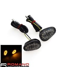 Flush Mount LED Turn Signals Lights Indicator Smoke For YAMAHA YZF R1 R6 R6S New