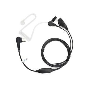 Motorola Radio 2 pin Covert Acoustic Earpiece with High Quality PTT Microphone