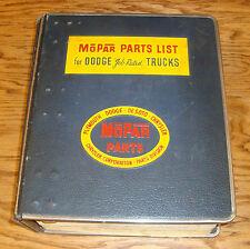 Original 1953 Dodge Truck B Series Mopar Parts List Catalog 53