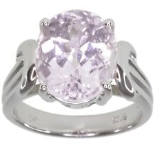 Kunzite Gemstone Oval Sterling Silver Ring size K