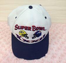 Super Bowl XXXII Snap Back Hat VINTAGE Denver Broncos vs Green Bay Packers RETRO