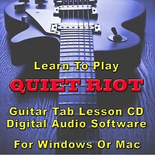 QUIET RIOT Guitar Tab Lesson CD Software - 17 Songs