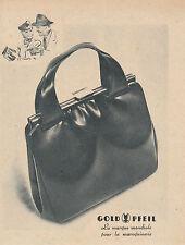 Publicité ancienne maroquinerie Gold Pfeil no 2 1941 issue de magazine