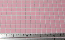 Dollhouse Miniature Floor Pink Vinyl Tile FF66030 1:12 Scale