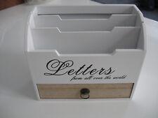 Organizer Vintage Schreibtisch Brief Ablage Büro Aufbewahrung Schublade