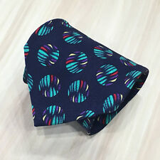 VERSUS GIANNI VERSACE Geometric Blue Tie 100% Silk Made In ITALY