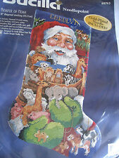 Bucilla Christmas Needlepoint Stocking Kit,ARMFUL OF NOAH,Gillum,60763,Size 18""
