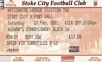 Ticket - Stoke City v Port Vale 17.02.01