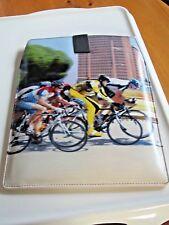 Cyclisme le thème de qualité supérieure fait à la main en cuir designer Tablette/Kindle Housse