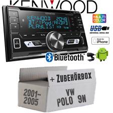 Kenwood Radio für VW Polo 9N Autoradio Bluetooth USB Apple Android Einbauset KFZ