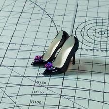 Custom 2# Black High-heel Shoes Model For 1/6 Scale Female TBLeague Doll Figure