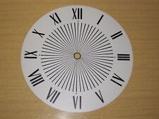 Vtg Standard White Black Roman Numeral Metal Clock Face Industrial Steampunk Art