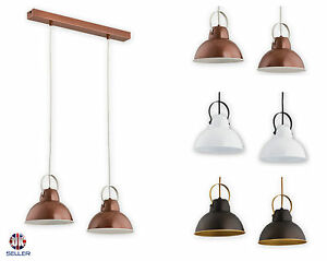 Pendant 2 lights Ceiling Light Copper Vintage Lampshade Industrial Retro Modern