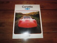 1979 Chevrolet CORVETTE Car Sales Brochure