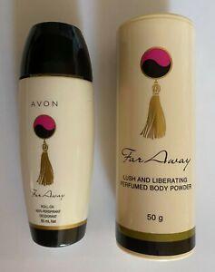 Avon Far Away Roll-on Deodorant 85 ml and Perfumed Body Powder 50 g (Set of 2)