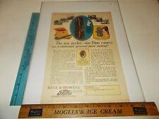 Rare Original VTG 1928 Bell & Howell Filmo Movie Camera Advertising Art Print