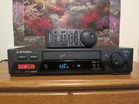 Mitsubishi HS-U795 VHS SVHS VCR Video Cassette Recorder
