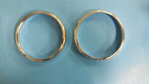 New Pair Headlamp Headlight Trim Rings MG Midget 1500 1975-1979 Set of Two