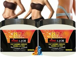 JAR HOT CREAM FAT BURNER CREMA REDUCTORA 4 Oz LIPO GEL REDUCTOR QUEMA GRASA 2 bt